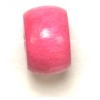 Wood Crowbeads 9/6.5mm Pink